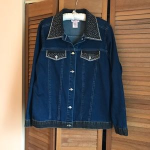 Quaker Factory Denim Jacket EUC.
